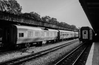 Trains at Tanjong Pagar Railway