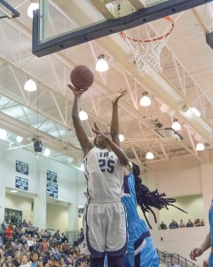Moneisha Goldsborough scores in the 4th Period. The Senior Center finished with 6 points. Photo: Shine Rankin Jr./SGSN