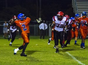 Firepower: Turner County was weapon heavy Friday night as they outgunned Randolph-Clay 31-6. Photo: Jessica Peters/SGSN