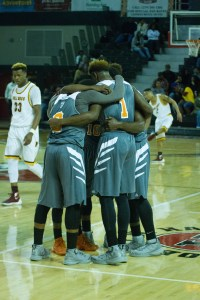 Teammates from Turner County gather as they prepared to play. Photo: Jessica Peters/SGSN