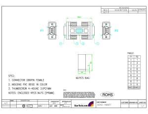 Null Modem Adapter  2x DB9 female | StarTech