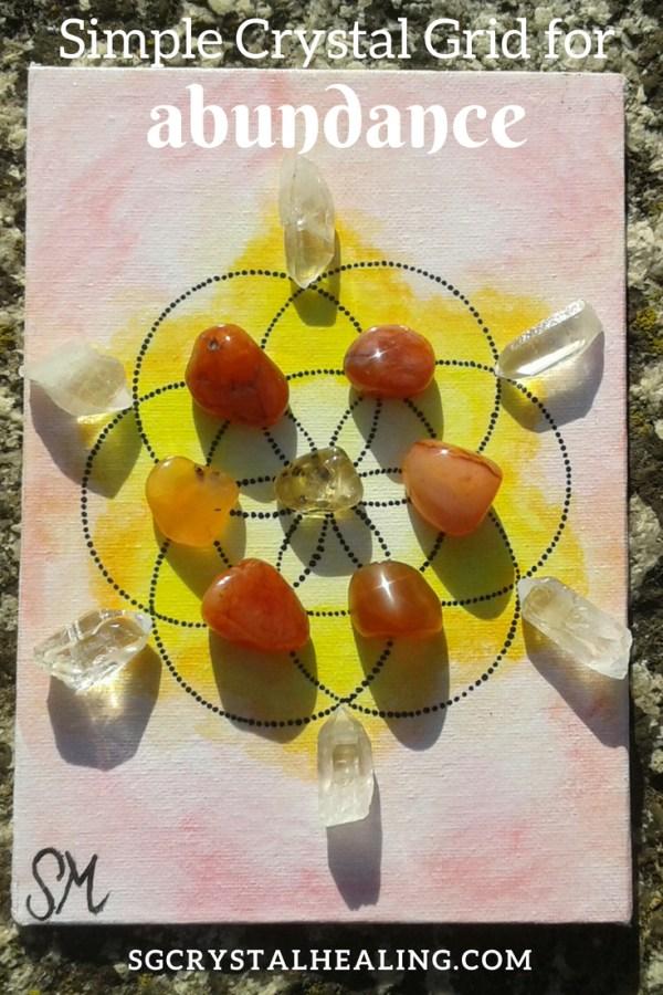 Simple Crystal Grid for Abundance