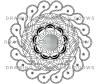 Crystal Mandala Coloring Page Selenite Close Up