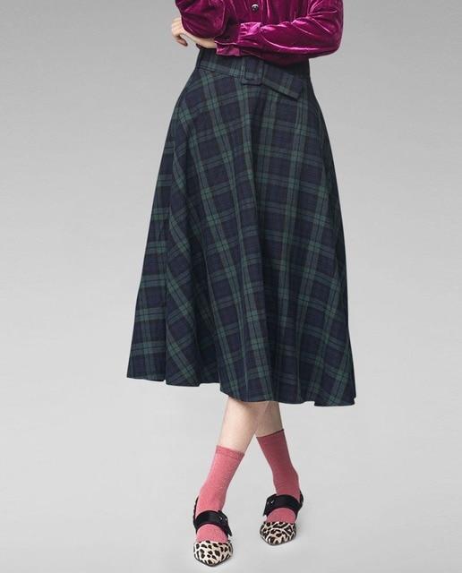 Resultado de imagen de falda chanel cuadros midi