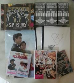 Japan concert merchandises and items from Taiwan that arrived!