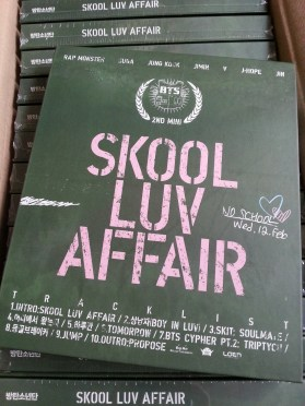 BTS – Skool Luv Affair albums arrived!