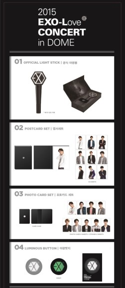 2015 EXO-Love CONCERT in DOME Official Merchandise