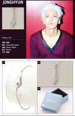 SHINee Official Bracelet & Necklace (Jonghyun)