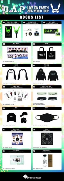 B.A.P Live On Earth 2016 World Tour Official Merchandise 01