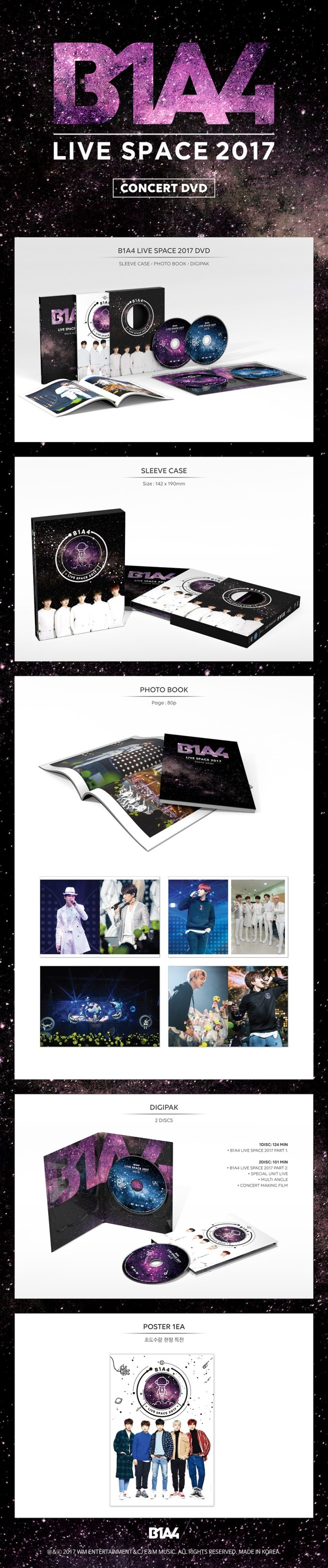 B1A4 - LIVE SPACE 2017 DVD Preview