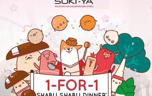 LOBANG: 1-FOR-1 Shabu Shabu Dinner at Suki-Ya Plaza Singapura till 10 March 2019!