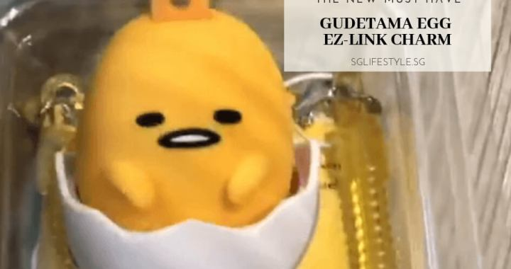 The NEW MUST HAVE: GUDETAMA EGG EZ-LINK CHARM – Available from TODAY, 15 March 2019!