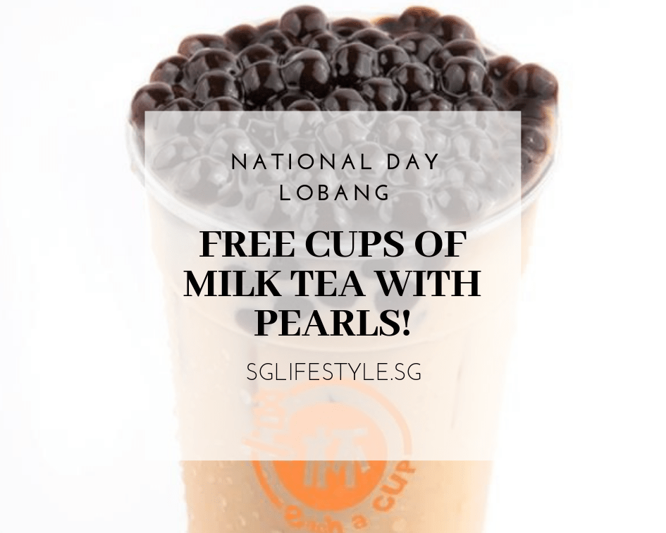 each a cup free milk tea