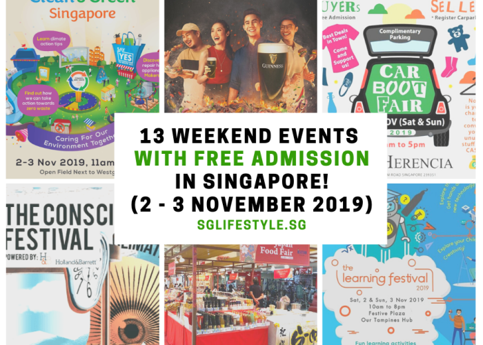 weekend events singapore nov 2019