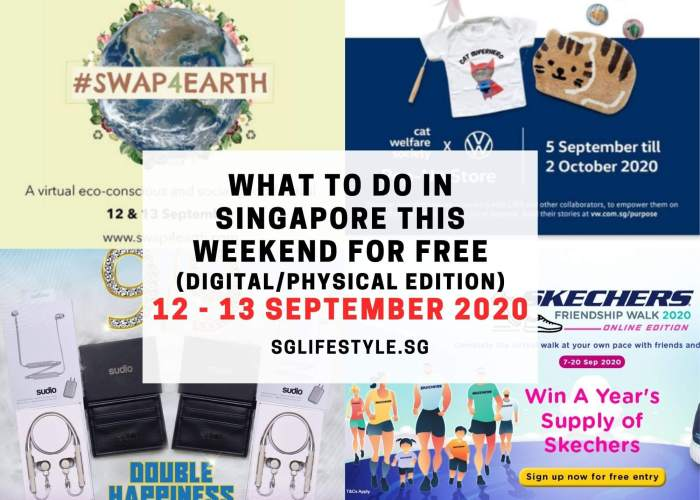 singapore what to do weekend for free 12 13 sept 2020