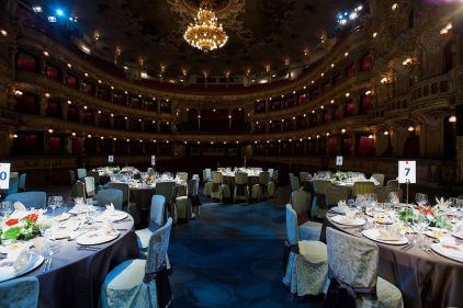Dinner on stage at The Opera