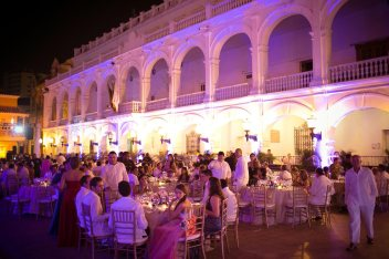 Dinner Function on a Cartagena Square