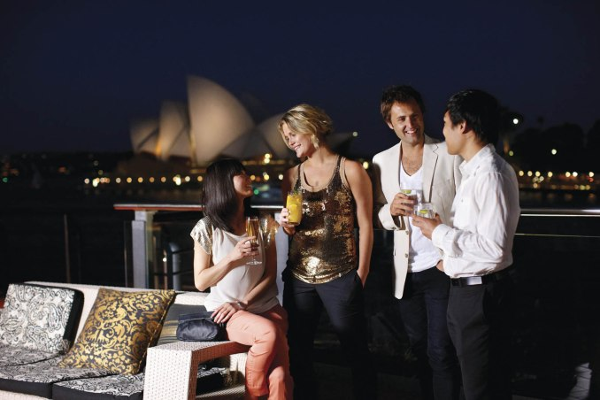 Cocktails near the Opera Building Sydney