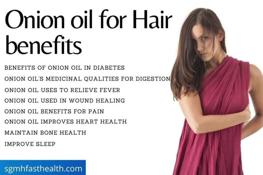 Onion oil for hair
