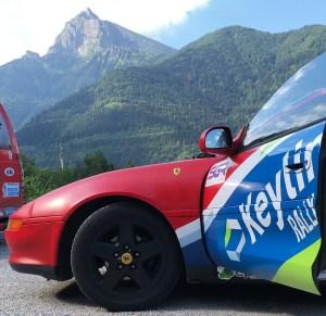 Rally car alps