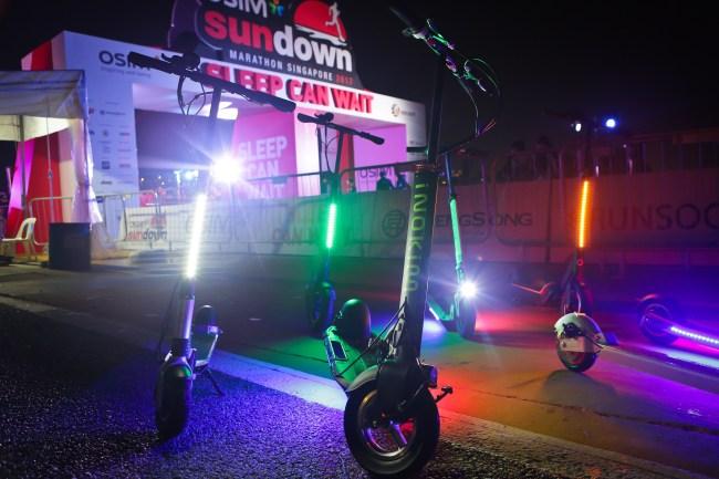 scooter close up night shot