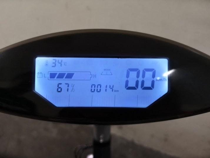 Backlit Electronic dashboard