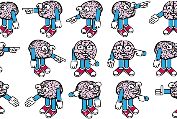 Mr Brains cartoon illustrations