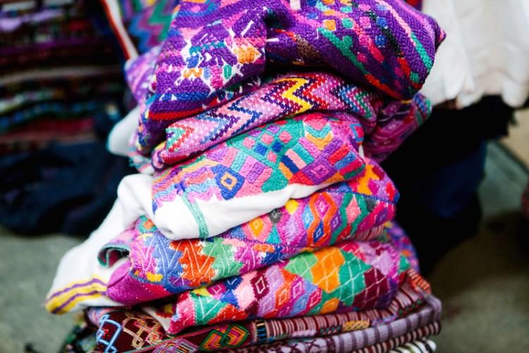 stack of huipils