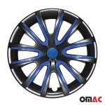 16 Inch Hubcaps Wheel Rim Cover Black Dark Blue 4pcs Set For Dodge Durango Ebay