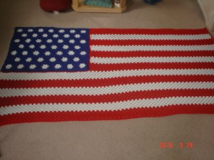 Flag Afghan made by Jo