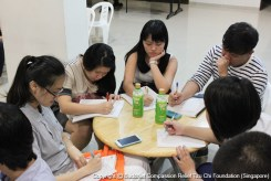 "In line with the theme of ""Kinship"", participants were asked to write letters to their families their heartfelt words and feelings. (Photograpger: Lian Ya Hui)"
