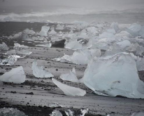 Islanda: spiaggia di Jokulsarlon