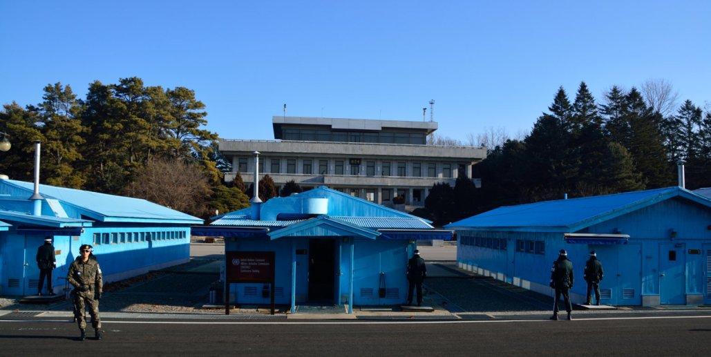 Confine tra Nord e Sud Corea: nella Panmunjeom Area