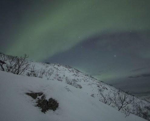 Aurora boreale paesaggio