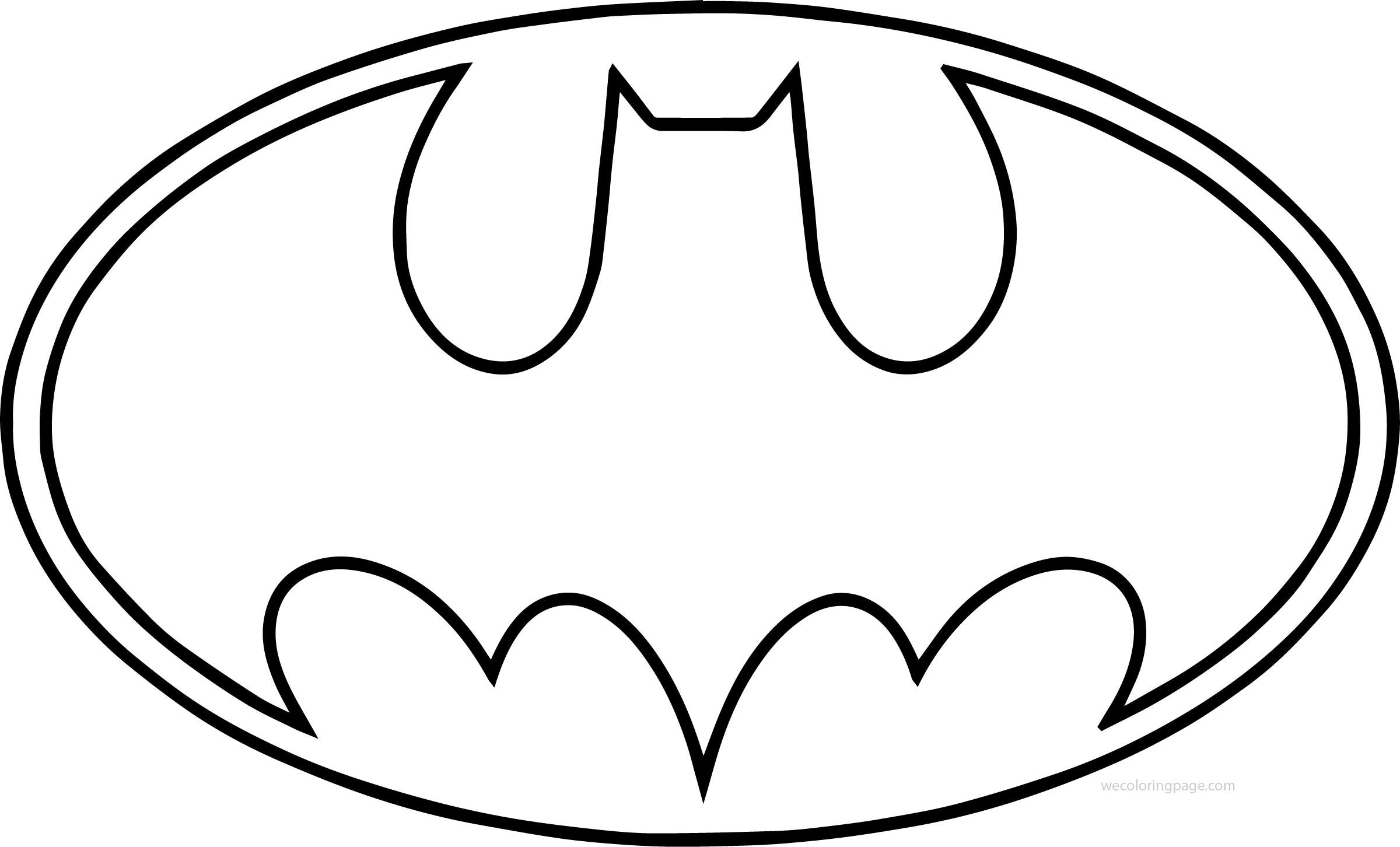 Outline Batman Logo Coloring Page