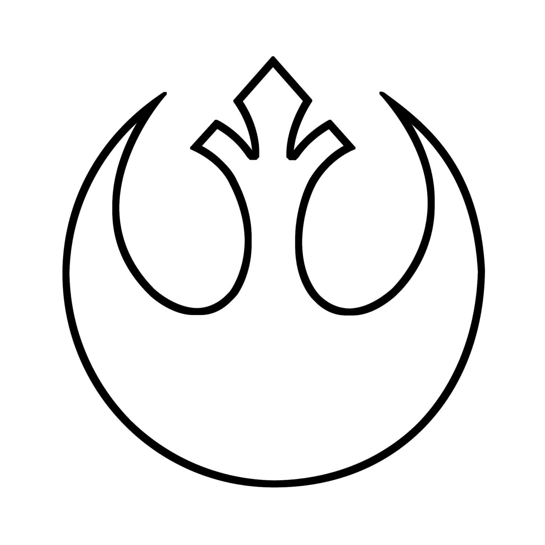 Star Wars Rebel Alliance Symbol Outline Decal By