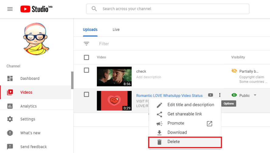 Delete a YouTube Video Easily