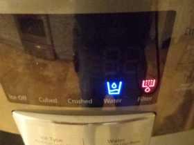 Refrigerator Water Filter Indicator Light