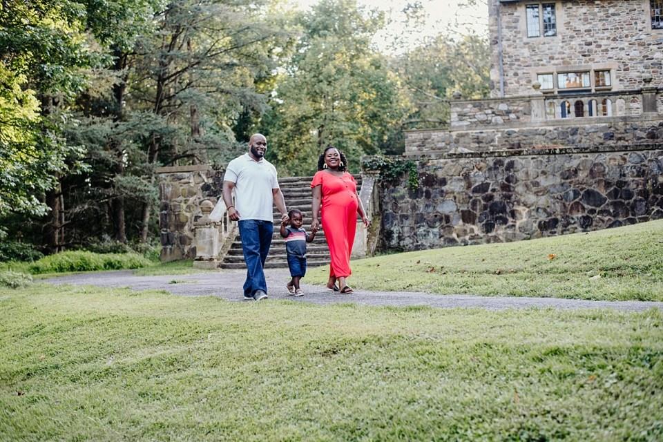 maternity session fairmount park black family