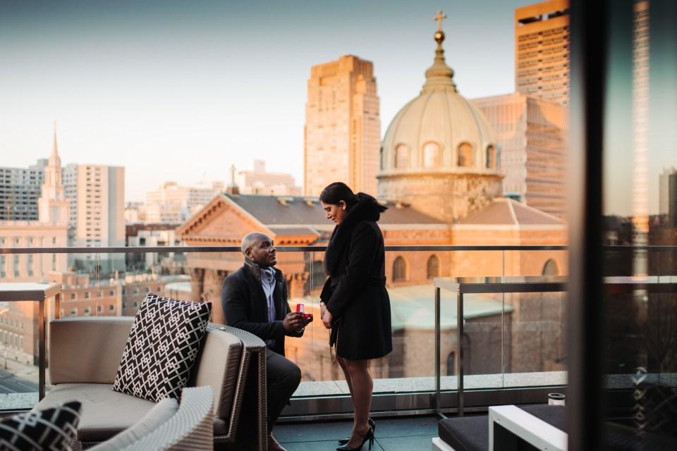proposal happening at logan hotel