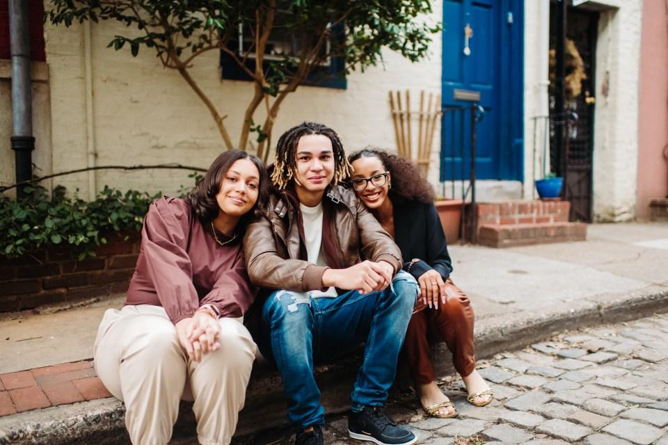 kids smiling in fitler square philadelphia
