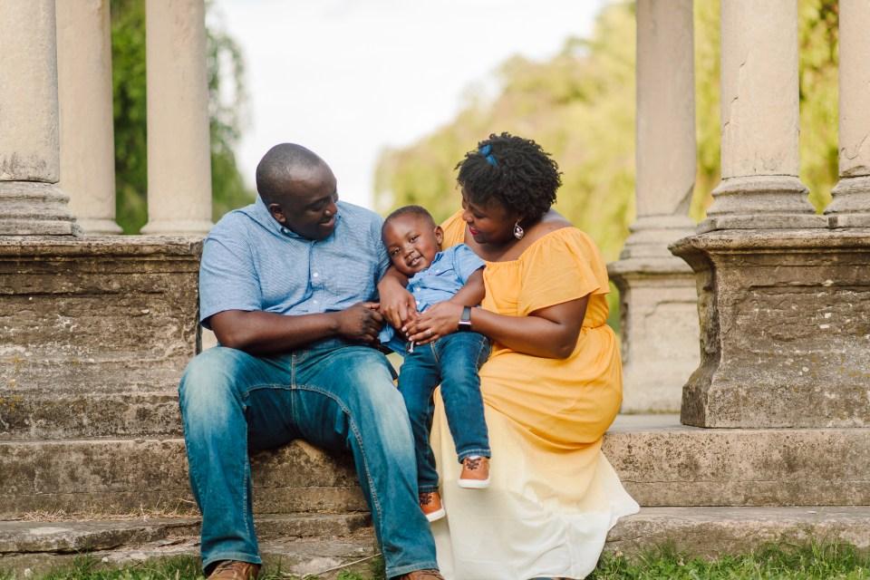 black family fairmount park photography