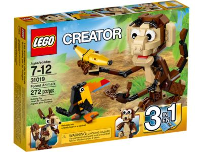 Forest Animals   31019   Creator 3 in 1   LEGO Shop Have fun with the 3 in 1 LEGO reg  Creator Forest Animals with a
