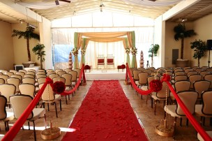 The Pavilion is where most desi ceremonies take place. It's a covered with beautiful windows on both sides.