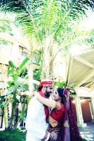 Adorable shot of Amit and Tejal at the Sheraton Park