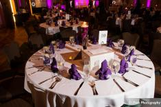 The hotel provides the tables, chairs, linens, silver, glass and stemware.