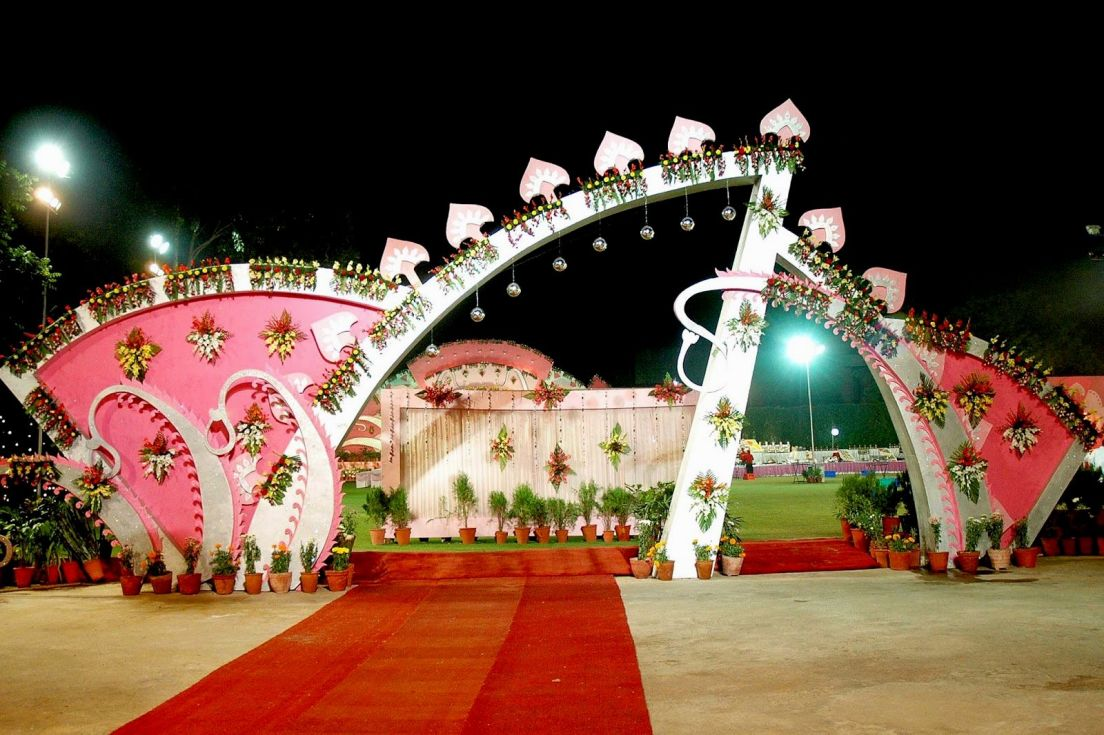 Indian Wedding Decorations with Flowers
