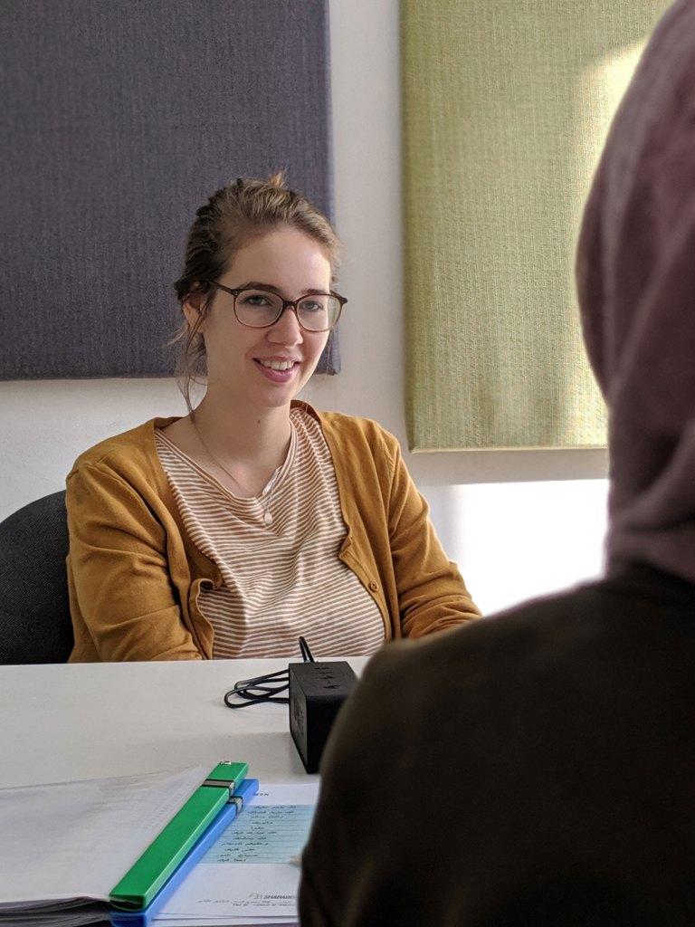 woman studying Arabic in Amman Jordan at Shababeek