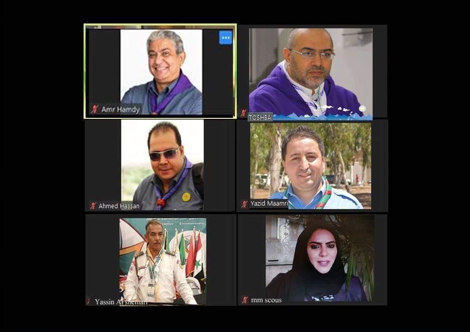 لجنة الإعلام والاتصال الكشفية العربية تجتمع افتراضيا .