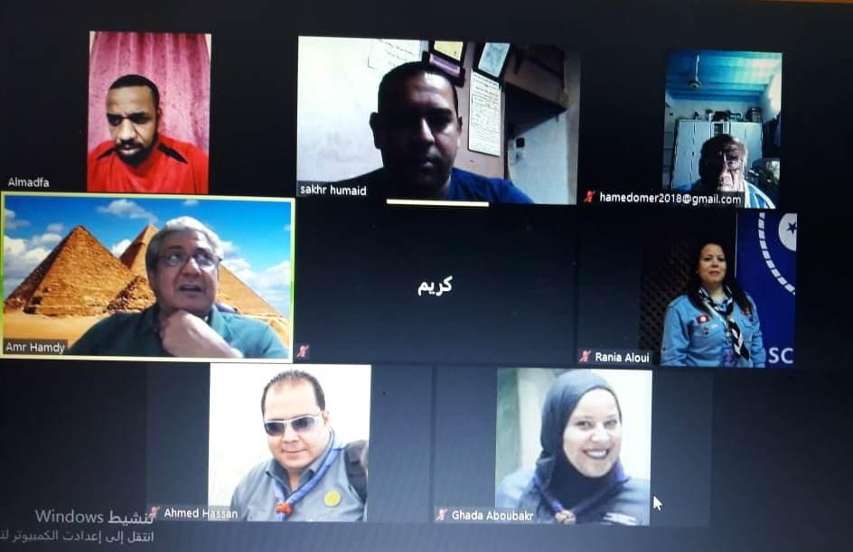 اجتماع اللجنة الكشفية العربية لتنمية المجتمع والمسؤولية الاجتماعية